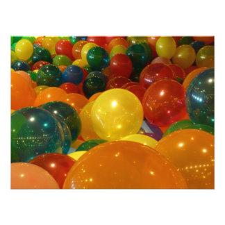 Impresión de la foto de los globos cojinete