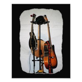 Impresión de la foto de los instrumentos musicales fotografía