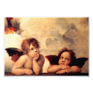 Impresión de la foto de Sistine Madonna de las que