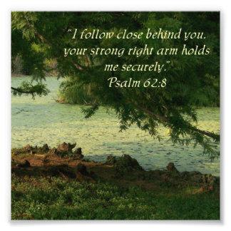 Impresión de la foto del 62:8 del salmo del 62:8 d cojinete