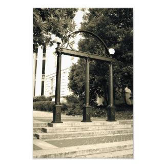 Impresión de la foto del arco en UGA