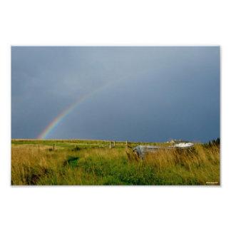 """Impresión de la foto del """"arco iris"""""""