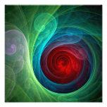 Impresión de la foto del arte abstracto de Red Sto