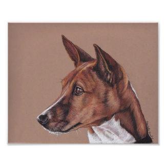 Impresión de la foto del arte del perro de Basenji