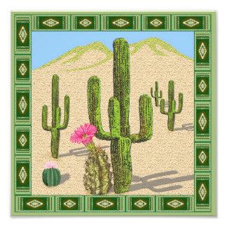 impresión de la foto del cactus del desierto fotografía