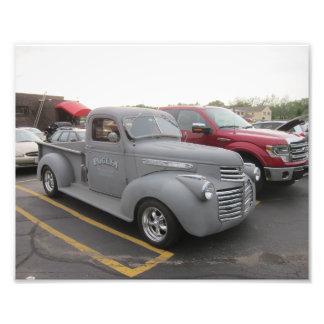 Impresión de la foto del camión del coche de cojinete