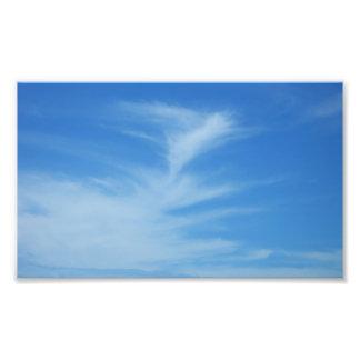 Impresión de la foto del cielo azul