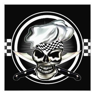 Impresión de la foto del cocinero del cráneo