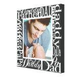 Impresión de la foto del collage de la palabra del impresiones en lienzo estiradas