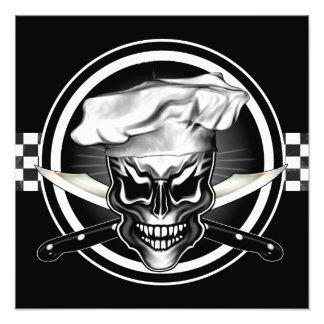 Impresión de la foto del cráneo del cocinero