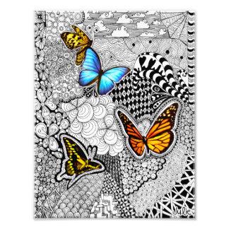 Impresión de la foto del enredo de la mariposa fotografía