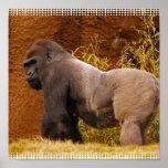 Impresión de la foto del gorila del Silverback Impresiones