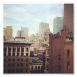 Impresión de la foto del horizonte de NY