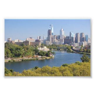 Impresión de la foto del horizonte de Philadelphia