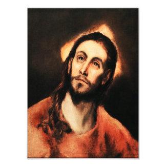 Impresión de la foto del Jesucristo de El Greco