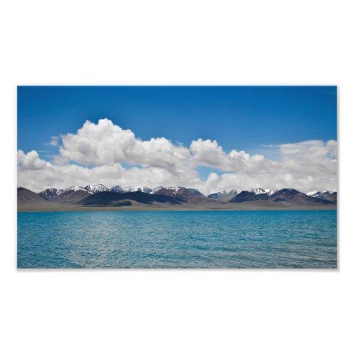 Impresión de la foto del lago Namtso