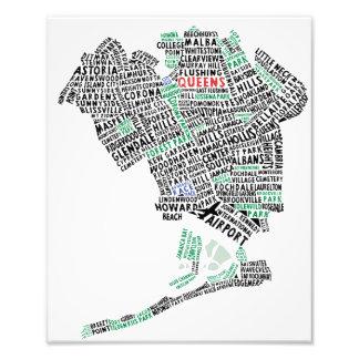 Impresión de la foto del mapa de la tipografía del fotografía