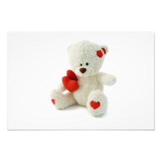 Impresión de la foto del oso de peluche del el día