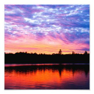 """Impresión de la foto del paisaje de la """"puesta del"""