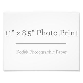 Impresión de la foto del personalizado 11 x 85 fotografías