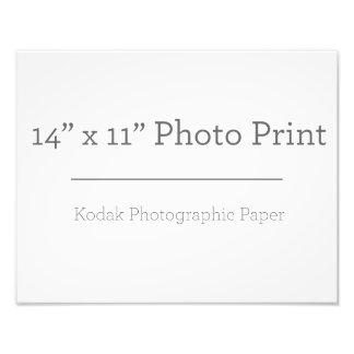 Impresión de la foto del personalizado 14 x 11 fotografía