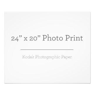 Impresión de la foto del personalizado 24 x 20