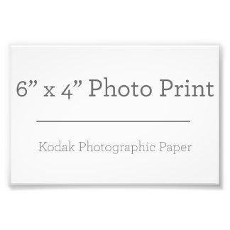 Impresión de la foto del personalizado 6 x 4 cojinete