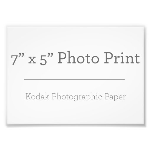17,78 x 12,7 cm, Papel Profesional Kodak (Satin)
