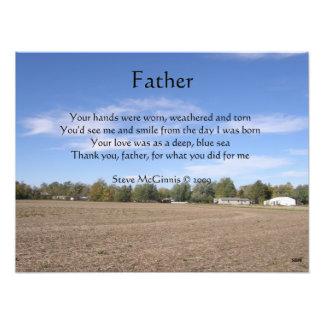 Impresión de la foto del poema del padre fotografía