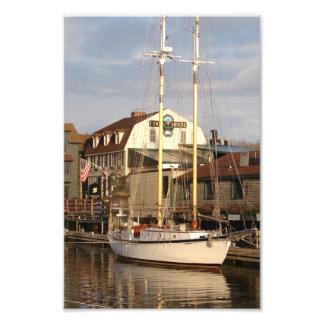 Impresión de la foto del puerto de Newport