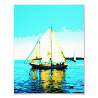 impresión de la foto del schooner de la navegación fotografías