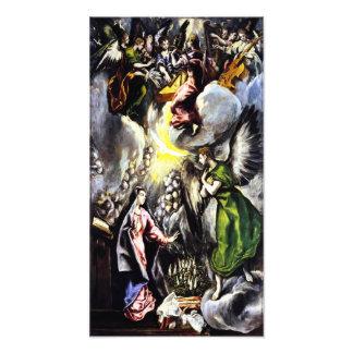 Impresión de la foto del Virgen María del anuncio