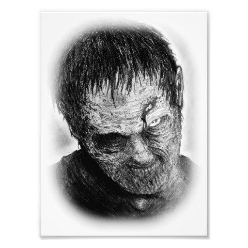 impresión de la foto del zombi