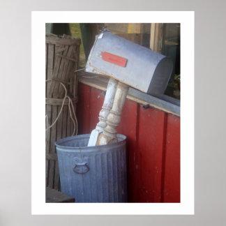 Impresión de la fotografía del correo basura poster