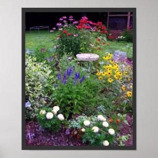 Impresión de la fotografía del jardín de la cabaña póster