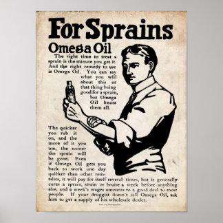 Impresión de la frotación del dolor del aceite de impresiones