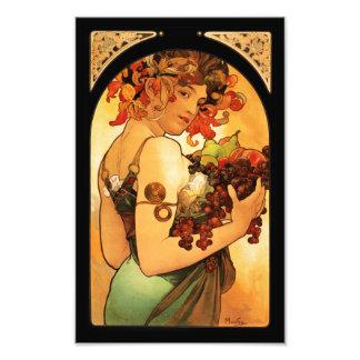 Impresión de la fruta de Alfonso Mucha Impresiones Fotograficas