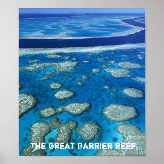 Impresión de la gran barrera de coral póster
