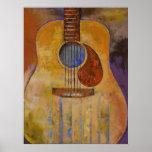 Impresión de la guitarra acústica