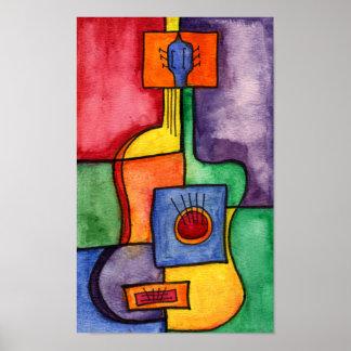 Impresión de la guitarra de Clasical Póster
