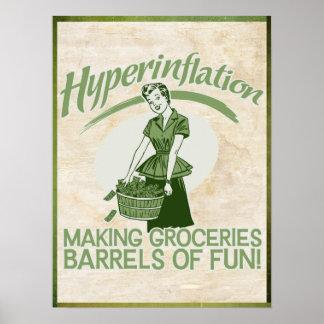 Impresión de la hiperinflación póster