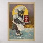 Impresión de la hornada del vintage poster