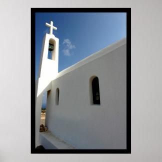 Impresión de la iglesia de Creta Póster