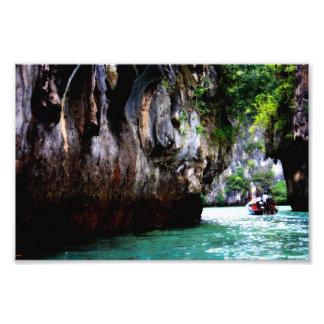 Impresión de la isla de Hong que entra, Tailandia Impresiones Fotográficas