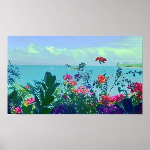 Impresión de la isla de la fantasía posters