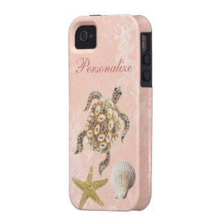 Impresión de la joya de la tortuga de mar, estrell vibe iPhone 4 carcasa