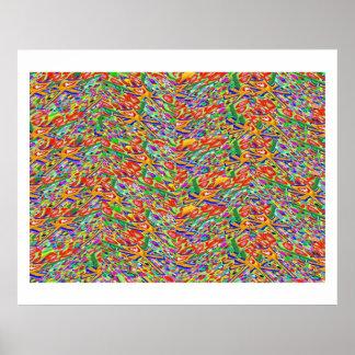 Impresión de la joya de Theraphy del color de la a Póster