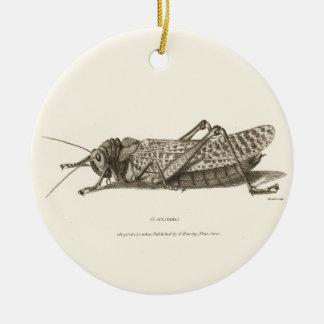 Impresión de la langosta adorno redondo de cerámica