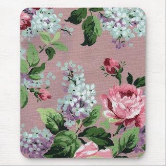 Impresión de la lila y del papel pintado del vinta mousepad
