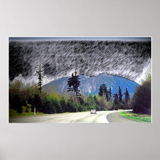 Impresión de la lluvia de Seattle Impresiones